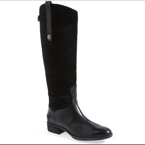 Sam Edelman VEUC suede leather riding boots